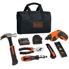 Black & Decker BDCS20PK 4-Volt Lithium-Ion Screwdriver and Handy Tool Bag Kit