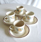 4 Cup & Saucer Sets - CORELLE by Corning