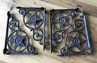 4 Cast Iron Antique Star Brackets Garden Braces Shelf Bracket RUSTIC Vintage