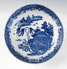 Good 18th C ENGLISH PEARLWARE BOWL CHINOISERIE Blue Porcelain Antique Soft Paste