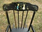 's Boston Rocker Rocking Chair children puppy birds flower