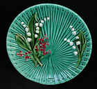 Green Majolica Schramberg Germany Plate - No. 4563 - Lily of The Valley - 1910+