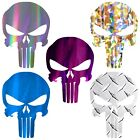 Punisher Decal Chrome Punisher Skull Sticker Choose Chrome Style