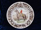 Collector Plate Ironstone Royal Canadian Mounted Police Horse Wood