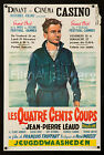 THE 400 BlOWS 1959 Rare original Belgian poster Francois Truffaut filmartgallery