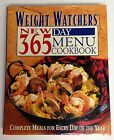 Weight Watchers New 365 Day Menu Cookbook Complete Meals1996 Hardcover