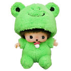 NEW Sekiguchi Monchhichi - Fluffy Animal Costume Frog Bebichhichi Boy Plush