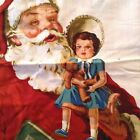 Daisy Kingdom Old Time Santa Door Hanging x2 Plus Ornaments Cotton