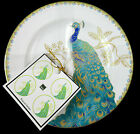 222 FIFTH SET (4) PEACOCK GARDEN APPETIZER, SNACK, BREAD PLATES   MORE!  NEW!