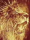 ABSTRACT PAINTING ANIMAL LION ROAR FUR MANE POSTER ART PRINT HOME PICTURE BB222B