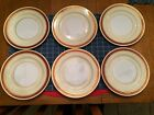 Noritake Milais Salad Plates 7 3/4 inches Gold Edges Hand Painted Japan Qty 6