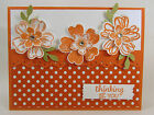 Stampin Up Card Kit THINKING YOU Flower Shop Tangerine Tango Set of 4 Cards