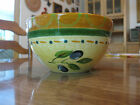 Pfaltzgraff Everyday Soup Cereal Bowl, Tuscan Olives pattern, Orange Green