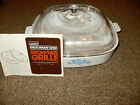 Corning Ware Montgomery Ward Browner Grill Casserole 68-8100 w/Lid