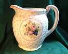 Shabby Style Ceramic Pitcher Made in Japan in the 1920's Pink White Floral