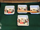 Collectable Bistro Bakeware Certified International Set of 4 Square Oven Micro