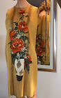 MIAMI ORIGINALS 1960s VINTAGE DRESS BOLD FLORAL STILL LIFE PORTRAIT WEARABLE ART