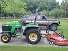 JOHN DEERE 4200 COMPACT TRACTOR WITH BUSH HOG ROTARY MOWER CUTTER