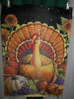 % HARVEST TURKEY ~ GARDEN FLAG ~ 12 X 18 ~  DESIGNED BY GEOFF ALLEN