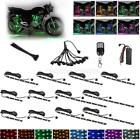 12pc Motorcycle LED Neon Under Glow Lights Strip Kit 72LEDs