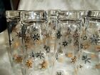 7  Vintage Federal Glass Snowflake Highball Glasses, EXCELLENT CONDITION