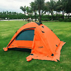 2 Person Double Layer Outdoor Waterproof Camping Hiking Backpack Tent Orange