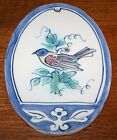 Rare OLD Dutch Delft Workum (near Makkum) plaque, BIRD