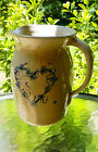 Vintage Pitcher Jug P. R. Storie Pottery Co Marshall Texas Hand Painted Cobalt