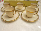 Saucers 608/H2 Ivory and Gold Green Mark