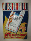 vintage advertising sign chesterfield new old stock