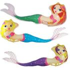 Inflatable Mermaid Pool  Beach Blow Up Inflate Toy 29 inches LOT OF 10X