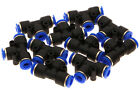 10x Pneumatic Tee Union Connector OD 1/4