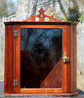 Antique Glass Corner Cabinet/ Table Top Display Case Vintage