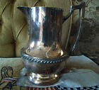 Vintage National Silver On Copper Ornate Water Pitcher #6007 Antique