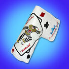 New Premier Craftsman Golf Blade Putter Cover Head Cover Poker Face White Ping