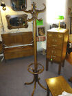 antique Oak Hall tree stand coat bentwood late 1800's refinished victorian era