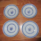 SET OF FOUR  BLUE FLOWER TIENSHAN RICE PATTERN DESIGN BREAD & BUTTER PLATES*