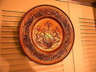 VINTAGE PEERAGE BRASS/COPPER HAMMERED EMBOSSED WALL DECOR PLATE 12