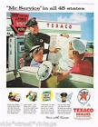 Vintage Advertising TEXACO GAS STATION AD BOWSER UNIFORM 1950's Original Advert