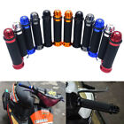 New Motorcycle Aluminum Rubber Gel Hand Grips End 7/8