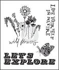 Prima Marketing FOREVER GREEN Wild Flowers 25x3 Clear Stamp CardMaking 575809