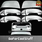GMC 2014-18 Canyon Half Mirror+4Dr W/O Psgkh+Tailgate W/Cmera Hole Chrome Cover