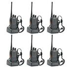 Walkie Talkie 6 Pack Two Way Radios Long Range Best Military Portable Radio
