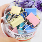 Lot 10PCS 25mm Office Study Tools Paper Clip Colorful Office Learning Supplies