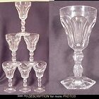 6 Crystal Cordial Glasses Hex Bases Baccarat Era