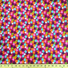 Dots Fuchsia Print Fabric Cotton Polyester Broadcloth By The Yard 60