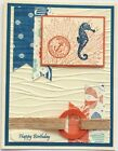 Card making kit of 4 Birthday Thanks Get Well Thinking of You Beach Stampin Up