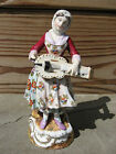 Antique Volkstedt (Late 19th Century) Figurine Woman with Mandolin - Beautiful