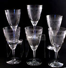 Heisey Wine Glasses Crystal Glass Wabash Pattern Etched 6pcs