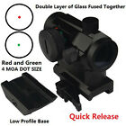 Red And Green Dot Sight QD Riser Mount Low Profile BaseDual Layer Glass Fused